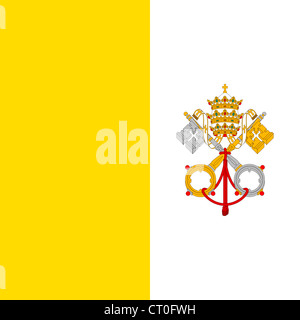 Flag of the Vatican City. - Stock Photo