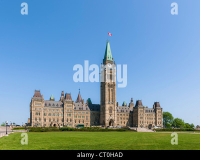 Centre block Peace Tower Parliament Hill, Ottawa - Stock Photo