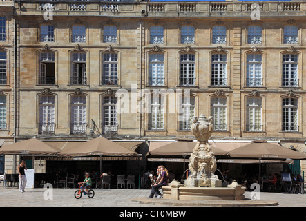 France, Aquitaine, Bordeaux, Place du Parlement, - Stock Photo