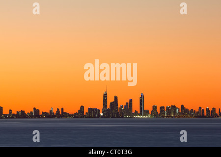 Gold Coast Skyline at Twilight - Stock Photo