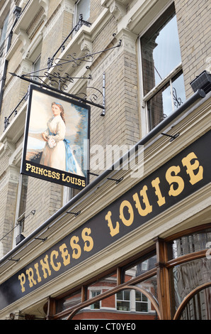 The Princess Louise pub in Holborn, London, UK - Stock Photo