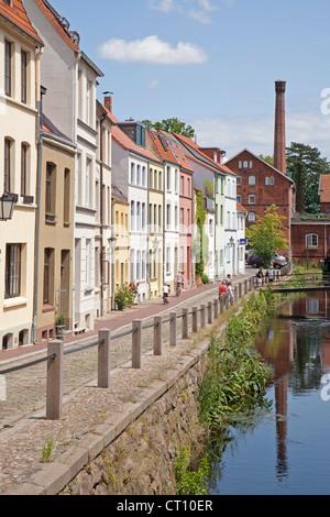 street Muehlengrube, Wismar, Mecklenburg-West Pomerania, Germany - Stock Photo