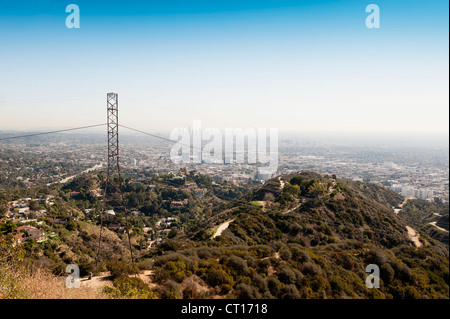 Aerial view of Los Angeles - Stock Photo