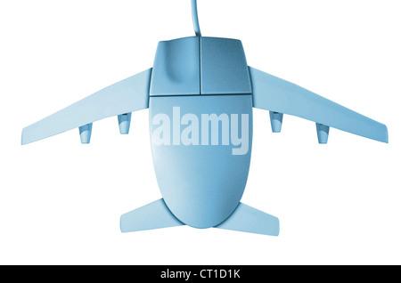 Computer Maus mit Flugzeugflügeln - Stock Photo