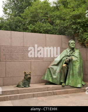 Franklin Delano Roosevelt Memorial in Washington DC, USA. - Stock Photo