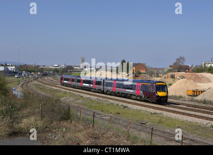 AXC Cross country 170109 heads north through Barnwood Junction, Gloucester on 29/03/12 with a cardiff - nottingham - Stock Photo