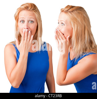 Woman talking and another woman listening - Stock Photo