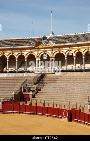 Bullring (Plaza de Toros) in Seville, Andalusia Spain - Stock Photo