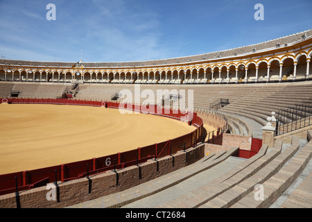 Bullfight arena (Plaza de Toros) in Seville, Andalusia Spain - Stock Photo