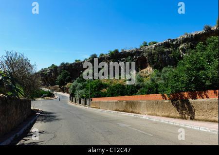Hornachuelos Limestone Cliffs - Stock Photo
