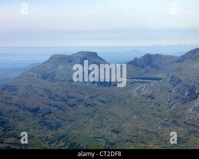 Mountain Top resevoir, Blaenau Festiniog, North Wales, UK - Stock Photo