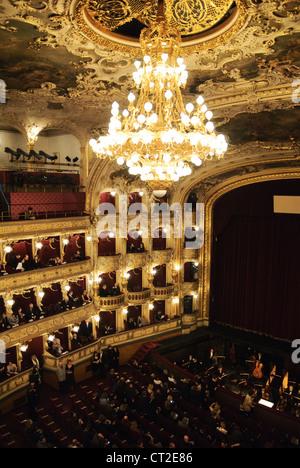 Prague State Opera house interior (Státní opera Praha), Prague, Czech Republic - Mar 2011 - Stock Photo