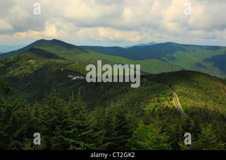 Mt. Mitchell State Park Entrance, Blue Ridge Parkway, Black Mountain, North Carolina, USA - Stock Photo