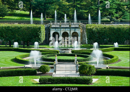 Main Fountain Garden, Longwood Gardens, Pennsylvania, USA   Stock Photo
