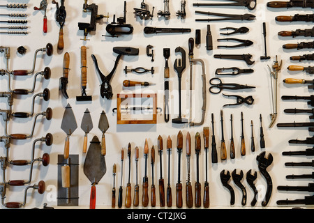 Collection of antique tools. - Stock Photo