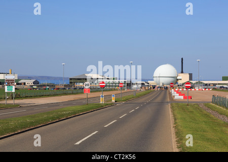 Dounreay nuclear power station atomic energy reactor and research establishment on north coast of Caithness Scotland - Stock Photo