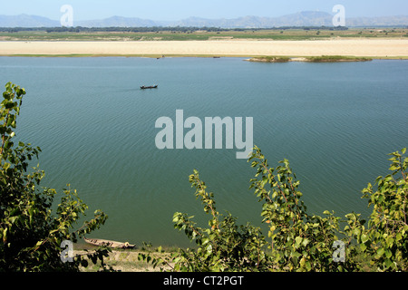 Ayeyarwaddy (Irrawaddy) River View from New Bagan (Pagan) | Myanmar - Stock Photo