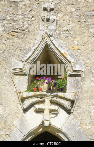 Church detail jouhet Poitou - Charente France - Stock Photo