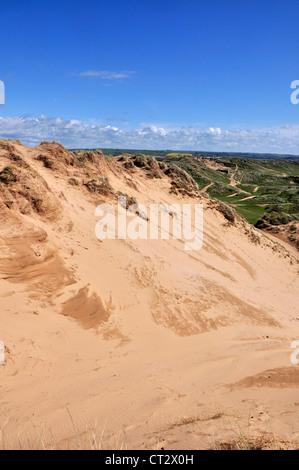 Braunton Burrows Devon sand dune - Stock Photo