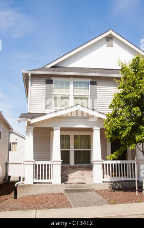 Beautiful Suburban Single Family House Stock Photo