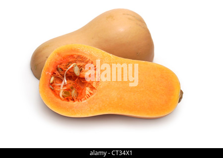 Butternut Squash, Vegetable Butternut Squash Cut in half - Stock Photo