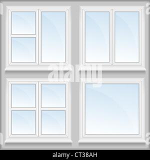 Windows with sills - Stock Photo