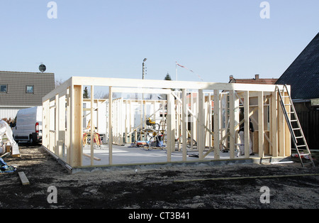New structure on construction site - Stock Photo