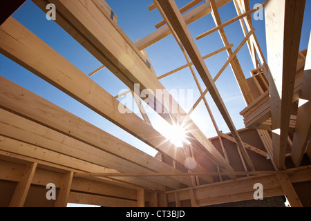 Interior of house under construction Stock Photo, Royalty ...