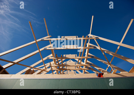 Roof of building under construction - Stock Photo