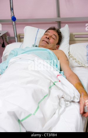 MAN HOSPITAL PATIENT - Stock Photo