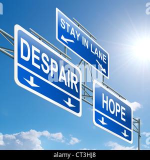 Hope or despair. - Stock Photo