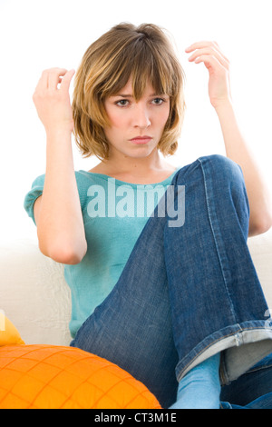 DAMAGED HAIR - Stock Photo