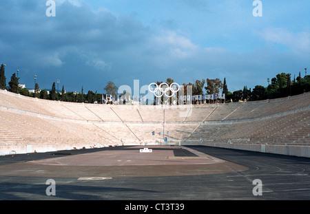 Athens, the Panathenaic Stadium in Athens - Stock Photo