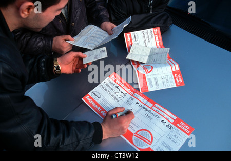 Private Car Market in Essen-Bergeborbeck - Stock Photo
