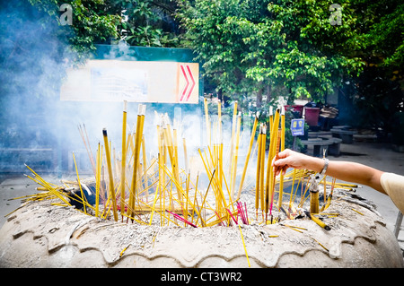incense in the Buddhist temple of Guangzhou - Stock Photo