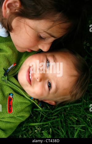 BROTHER & SISTER - Stock Photo