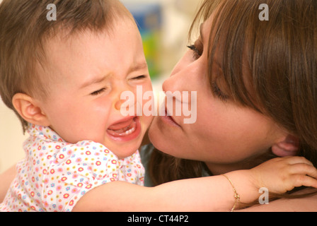 1-3 YEARS OLD BABY CRYING - Stock Photo