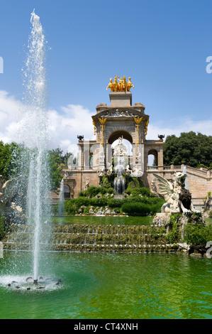 fountain monument  Cascada Parc de la Ciutadella barcelona - Stock Photo