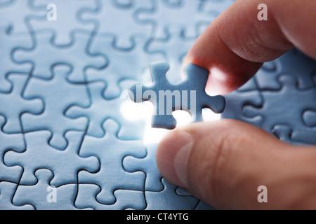 Last puzzle piece - Stock Photo