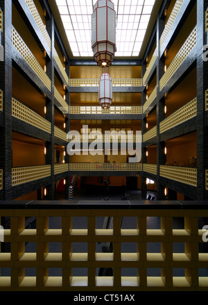 Berlin, courtyard in the House of Broadcasting - Stock Photo