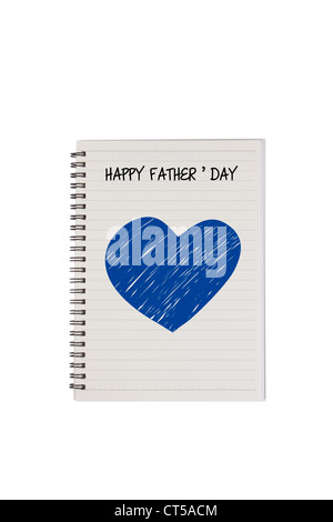 Happy father's day note - Stock Photo