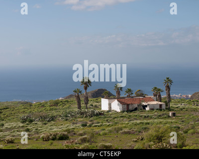 Typical old canary farm in southern Tenerife Spain near Playa de Las Americas - Stock Photo