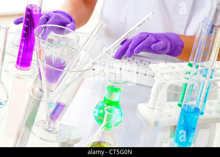 RESEARCH CHEMISTRY - Stock Photo