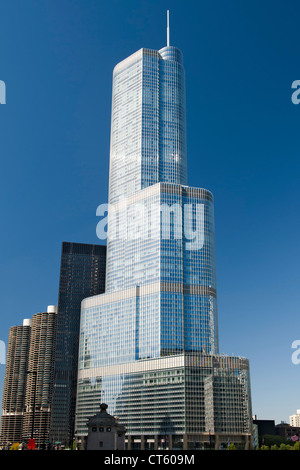 The 90-storey Trump Tower in Chicago, Illinois, USA. - Stock Photo