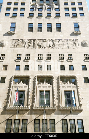 Facade of the Medina Athletic Club building in Chicago, Illinois, USA. - Stock Photo