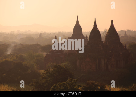 temple in Bagan in the morning light - Stock Photo