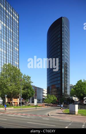 RWE Tower in Dortmund, Ruhrgebiet, Nordrhein-Westfalen - Stock Photo