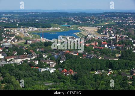D-Dortmund, Ruhr area, Westphalia, North Rhine-Westphalia, NRW, D-Dortmund-Hoerde, city view, aerial view, Phoenix - Stock Photo
