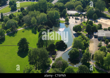 D-Dortmund, Ruhr area, Westphalia, North Rhine-Westphalia, NRW, city view, aerial view, Westfalenpark, Westphalian - Stock Photo