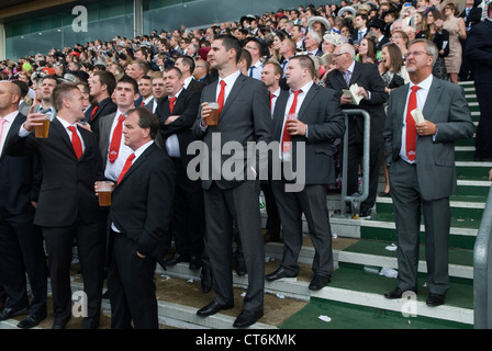 Stag party group. Royal Ascot horse racing Berkshire. HOMER SYKES - Stock Photo